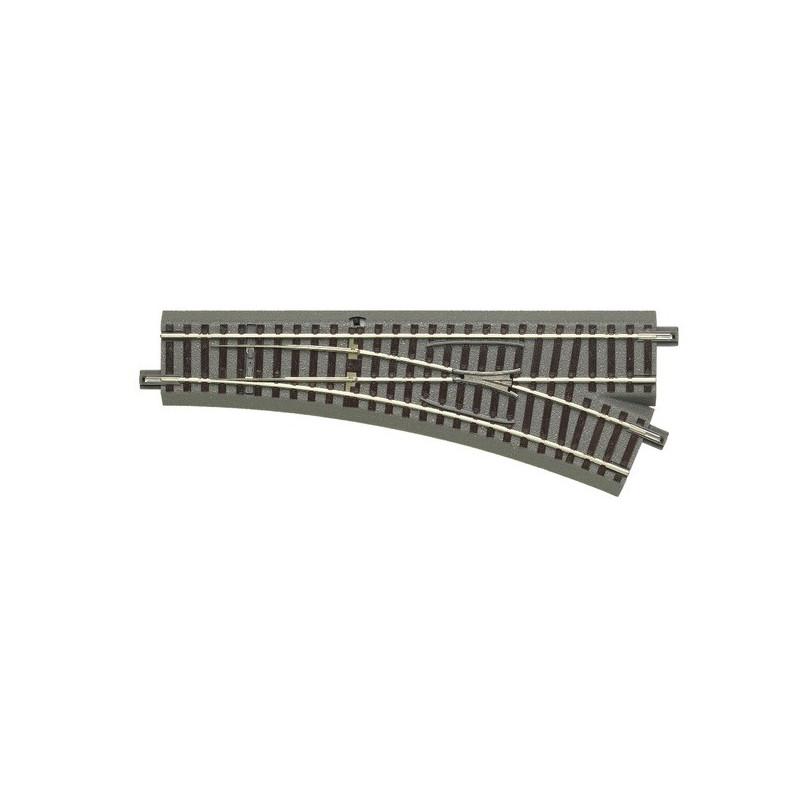 Aiguille standard droite manuelle 22,5° - H0 - code 83 - traverses bois - avec ballast - Voie Geo Line - R : 502,70 mm