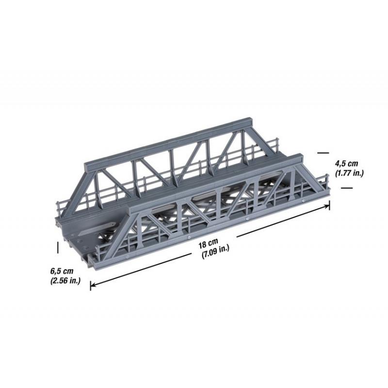 Pont métallique droit - H0