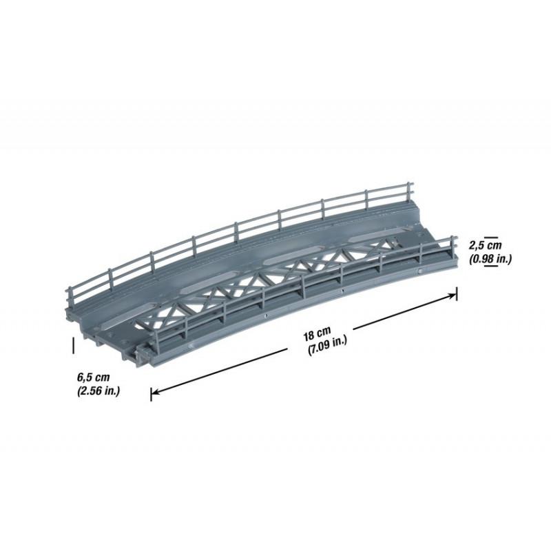 Tablier de pont métallique courbe - R : 360 mm - H0