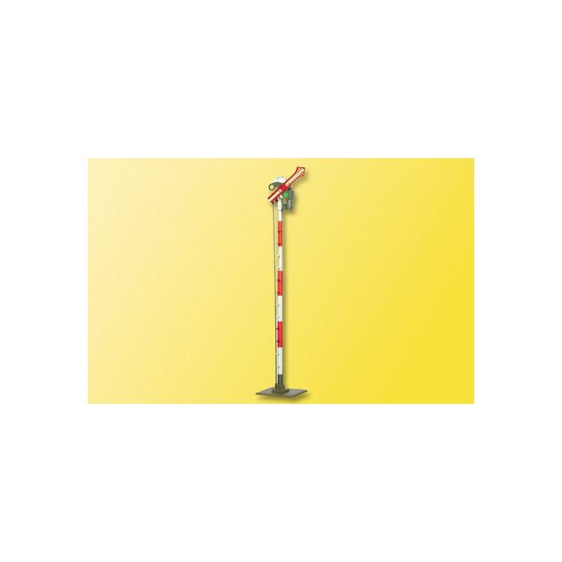 Sémaphore mécanique avec feu à 1 palette - fonctionnel - H0