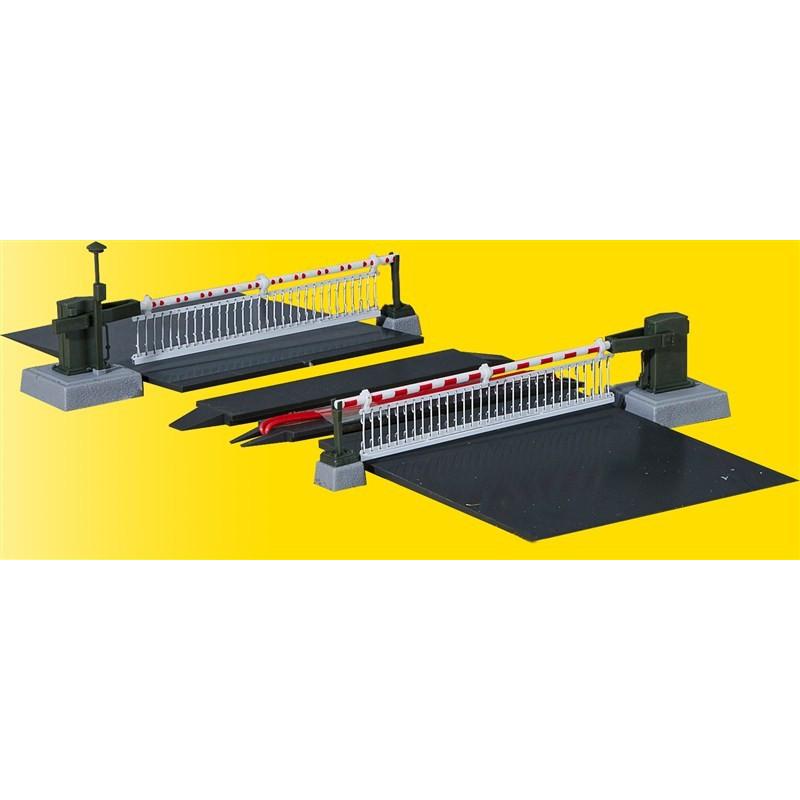 Passage à niveau à suspentes, entièrement automatisé - fonctionnel 14-16v - H0