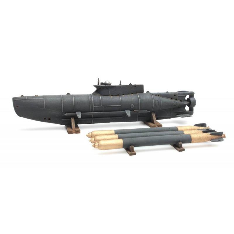 Sous-marin miniature + torpilles - H0