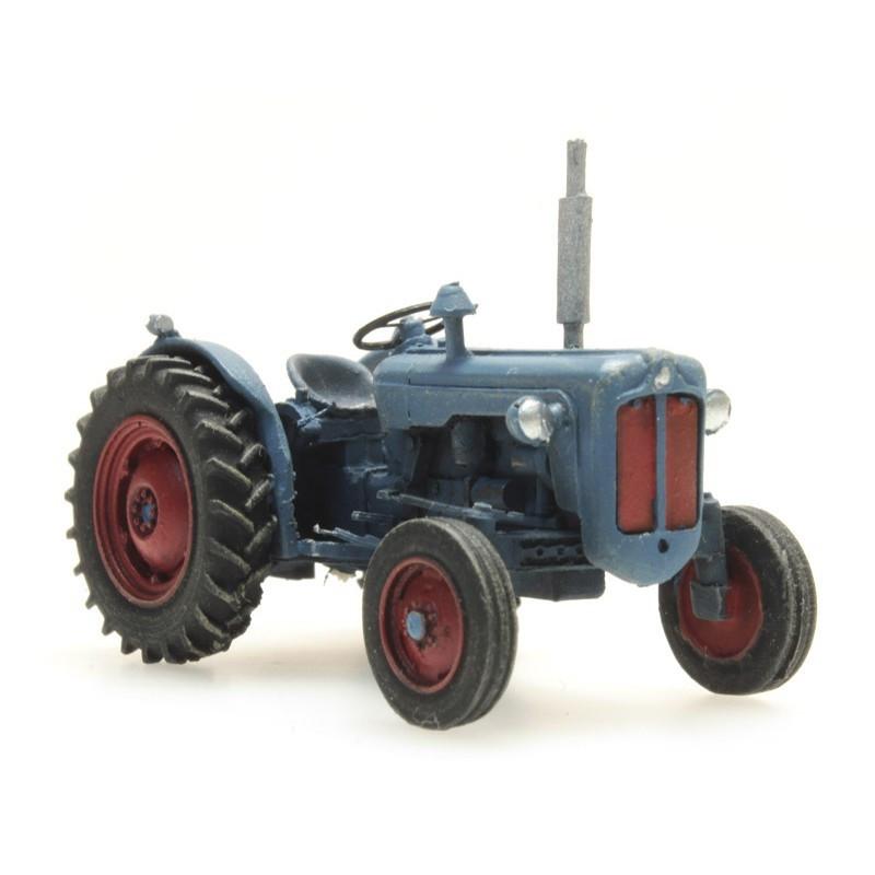 Tracteur Ford bleu - époque III - H0